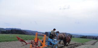 Bio-Bauer schützt das Klima durch seine Landwirtschaftsmethode.