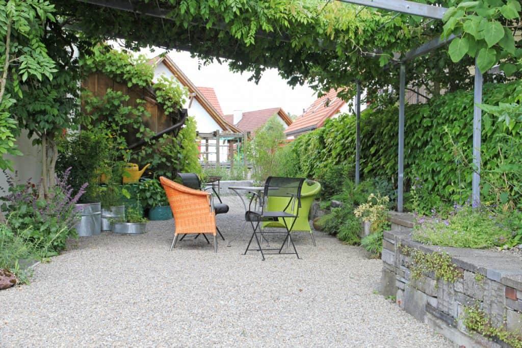 Weniger Bäume aber dafür mehr Tockenmauern bei den neuen Gärten.