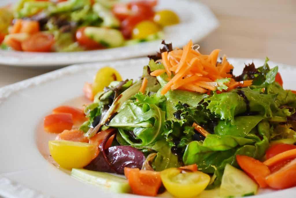 Vegetarisches Gericht ist besser für die Umwelt und das Klima.