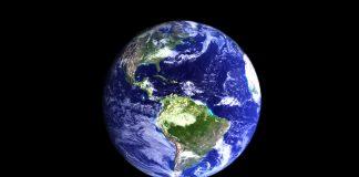 Bild aus dem All auf die Erde zum Earth Day zur Umweltbildung.