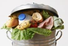 Food Waste greift um sich, wie hier die Lebensmittel im Müll.