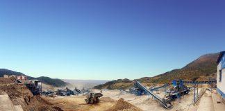 Eine Mine, wo Ressourcen abgebaut werden vor.