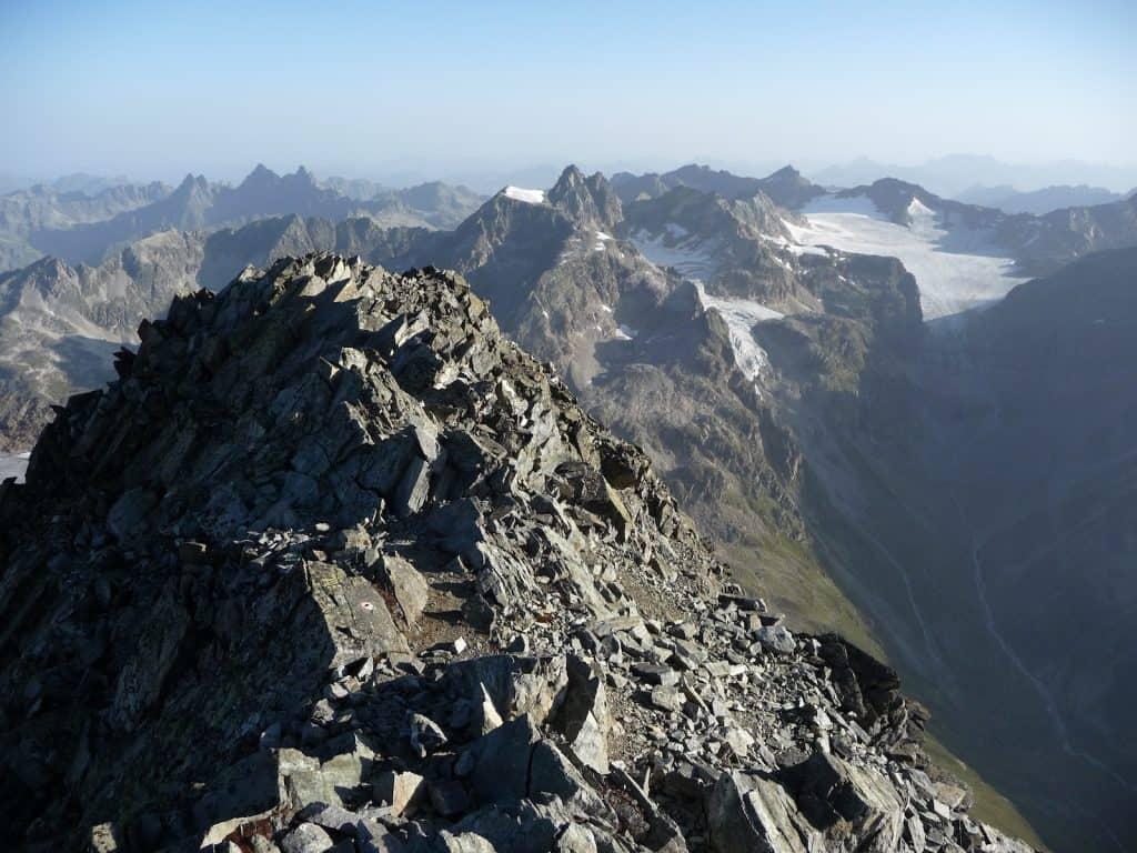 Der Klimawandel macht es den Pflanzenarten in der Höhe, hier der Gipfel Piz Linard, zu schaffen.