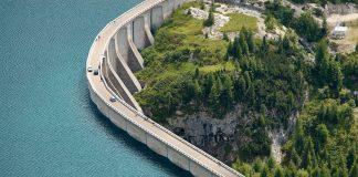 Wasserkraftwerke sind für die Energiewende wichtig: Hier ein Staudamm in den Alpen.