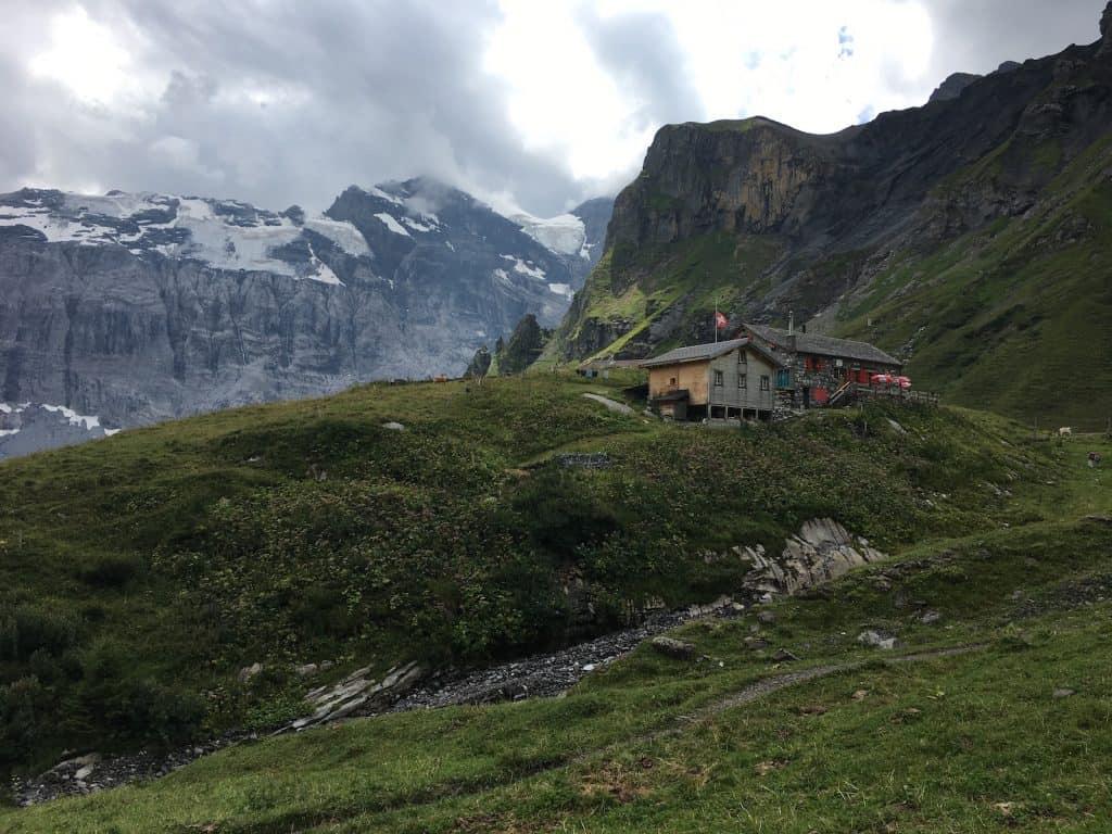 Sicht auf die Rotstockhütte.