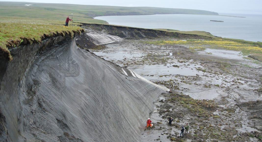 Küstenerosion in der Arktis.