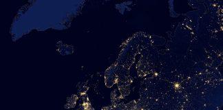 Lichtverschmutzung in der Nacht nimmt auch in Europa zu.