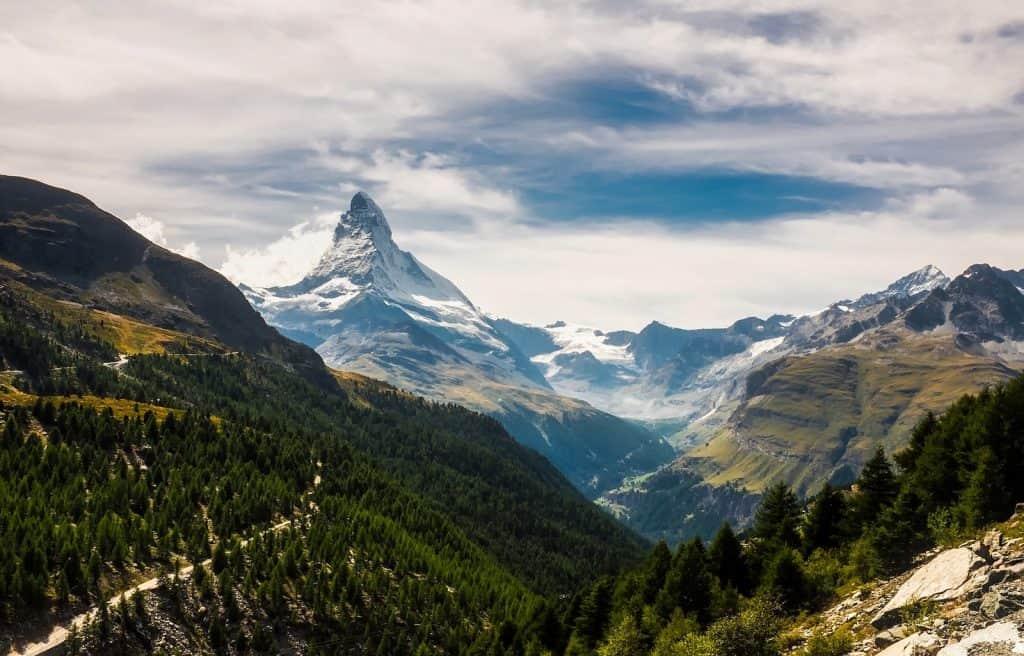Viele Wälder sind Schutzwälder, wie hier in der Region Zermatt.