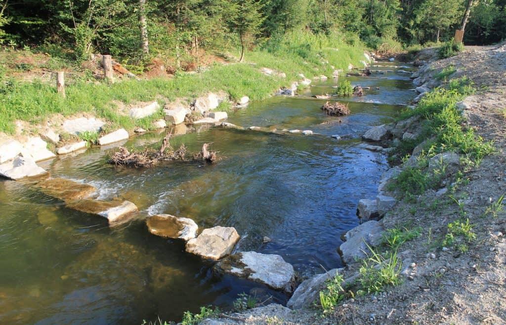 Der Fluss Bibere wurde renaturiert.
