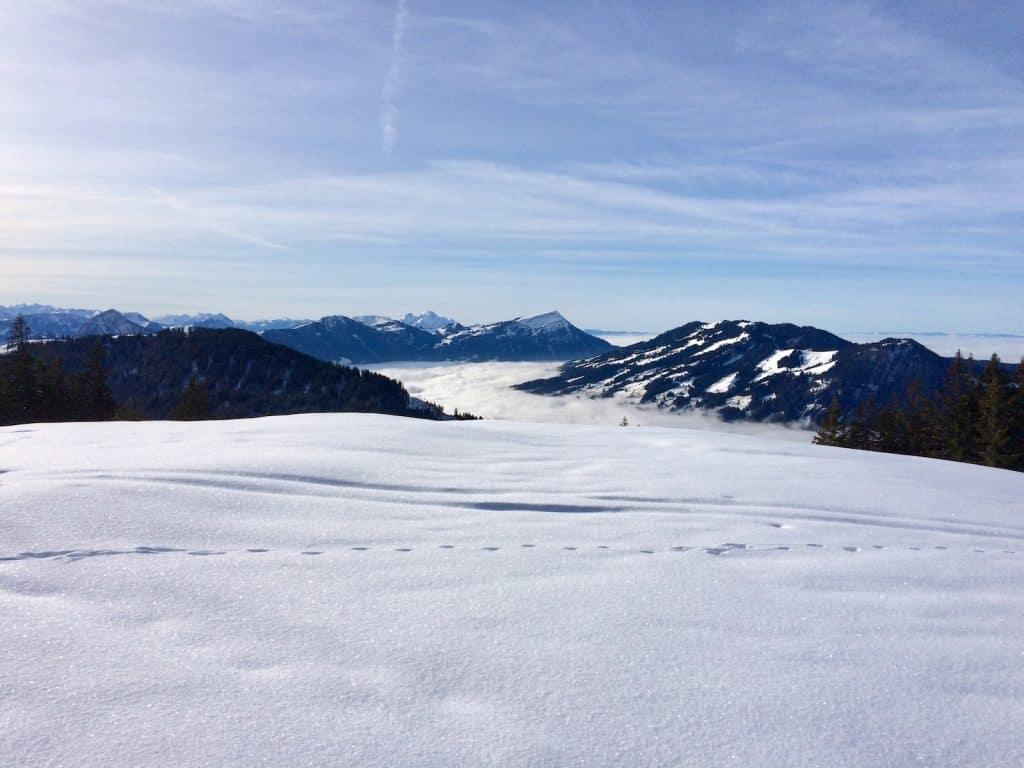 Aussicht auf Rigi- Schnee
