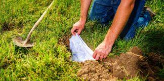 Am Tag des Unterirdischen Lebens kann man Baumwoll-Unterhosen vergraben.