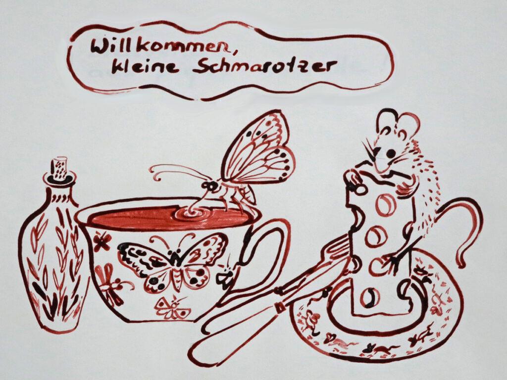 Zeichnung_Schmetterling_Käse