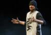 Manu Burkart als Rapper