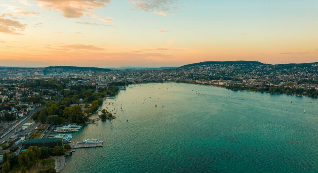 Zürichsee bei Sonnenuntergang