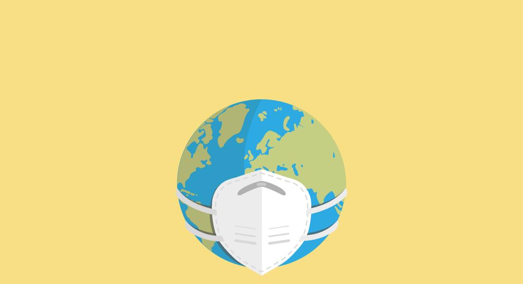 Die Erde trägt eine Maske