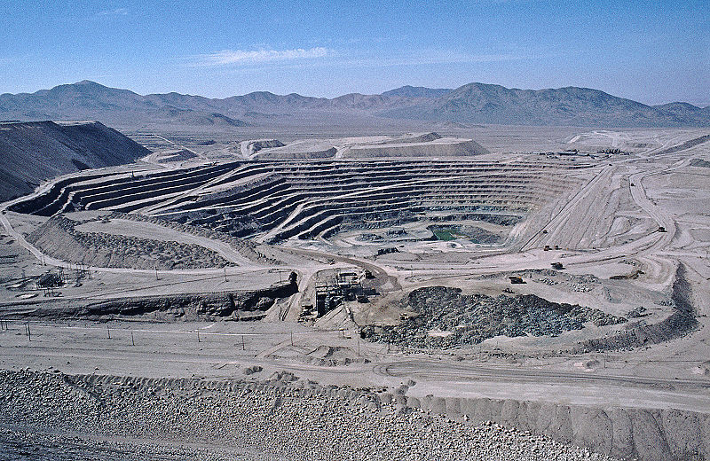Ein Kupfertagebau in Chile