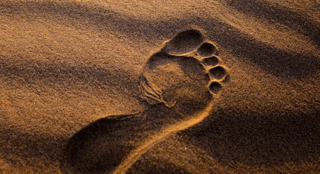 Fussabdruck im Sand