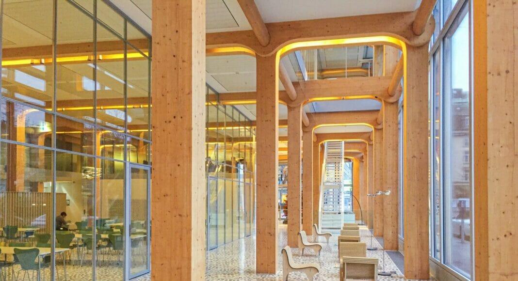 Tamedia-Verlagshaus, Holzbau