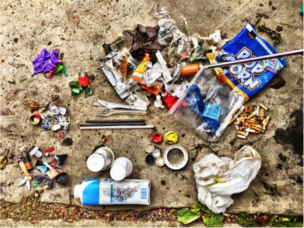 Grossteil der gefundenen Müllteile sind aus Plastik. © Stop Plastic Popllution CH