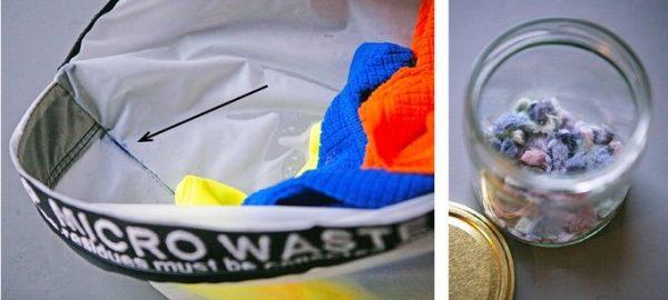 Erst nach einigen Waschgängen lässt sich die Menge an freigesetzten Mikrofasern erahnen. © Stop! Sicro Waste, via Langbrett.